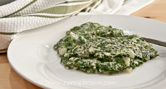 baked creamed spinach