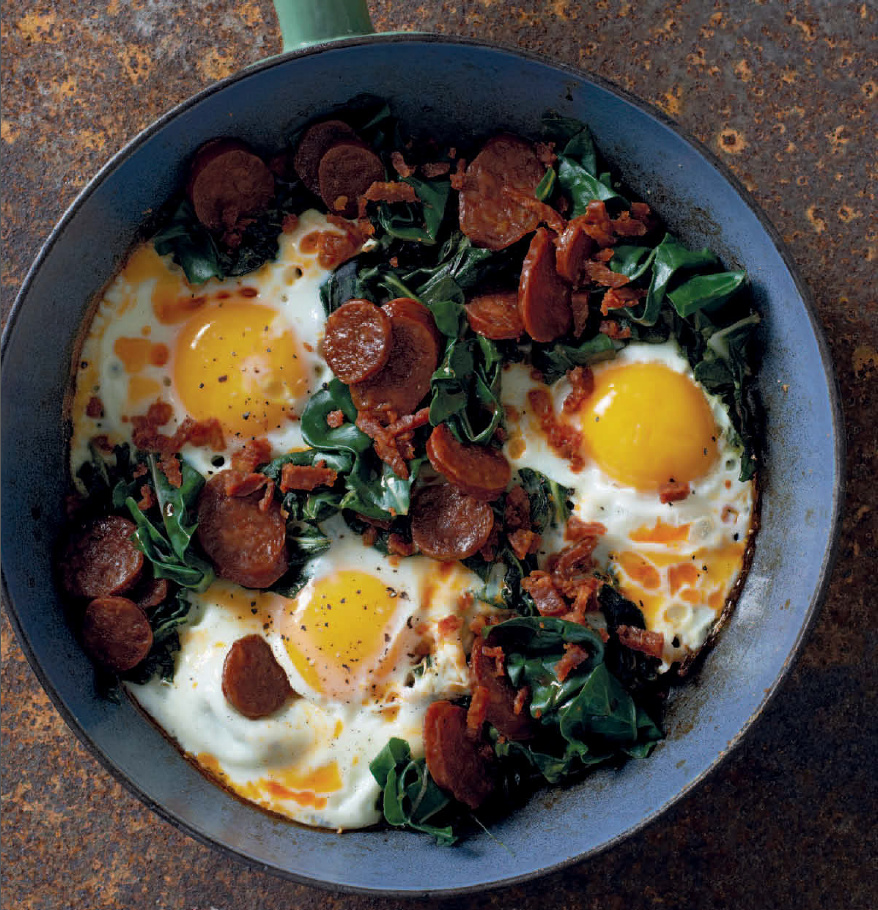 kale with chorizo and eggs | optimising nutrition