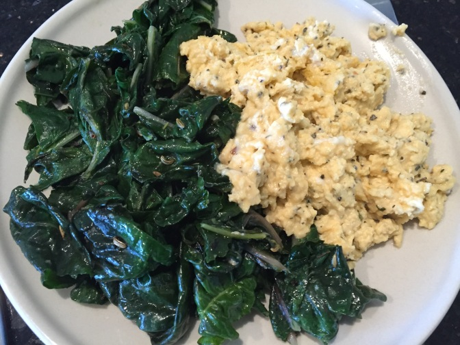 spinach and egg