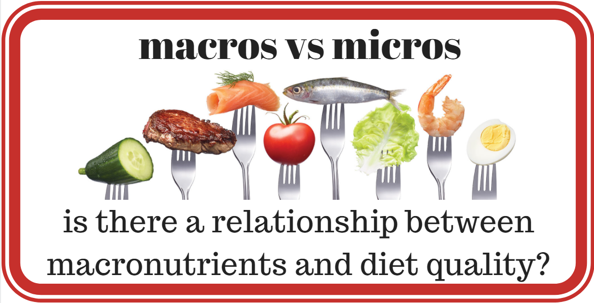is there a relationship between macronutrients and diet quality? | optimising nutrition